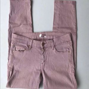 Mother Jeans The Looker Crop Mauve Size 26 Skinny